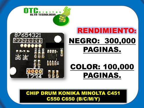 chip drum konika minolta c451 c550 c650 (b/c/m/y)