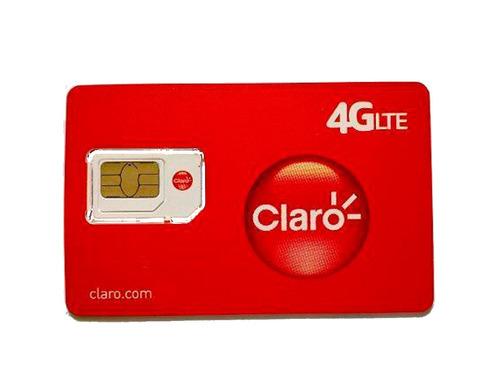 chip gsm claro prepago sim o microsim - factura a / b
