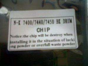 chip konica minolta 7400 bk;cy;mg;yl