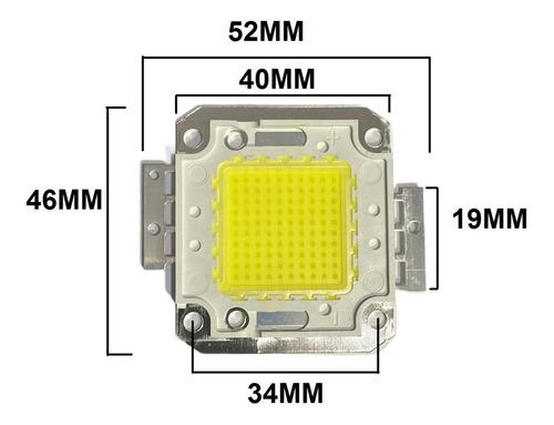 chip led 100w cob smd blanco frio repuesto reflector