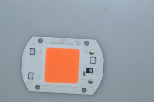 chip led 220v grow led aquário planta 50w full spectrum