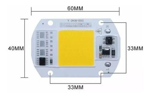 chip led 50w corriente 110v ó 220v