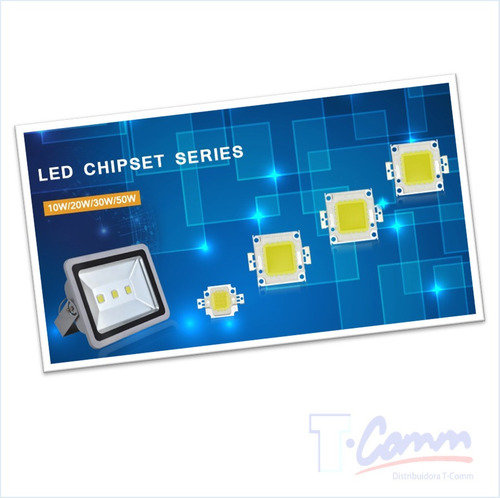 chip led cob 10w 12v luz blanco frío 6.000-6500k repuesto