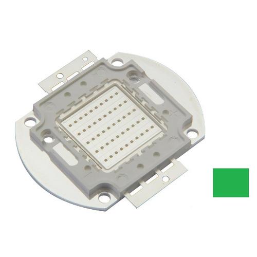 chip led verde 50w para reposição/reparo/conserto refletor