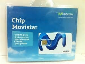 chip movistar prepago activo linea activa con numero tarjeta