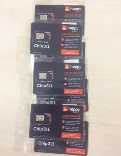 chip nextel happy pre pago 25 unidades