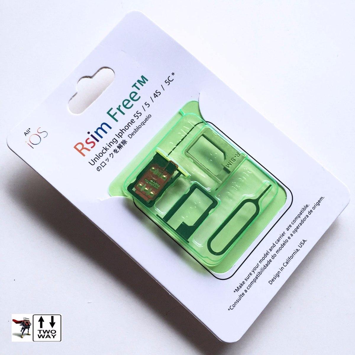 8e7b98cc6d1 chip p/ desbloqueio iphone 5s 4s 5 r-sim free softbank au 3g. Carregando  zoom.