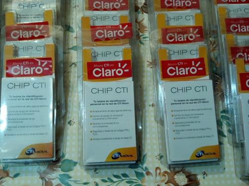 chip prepago claro vencidos. por lote