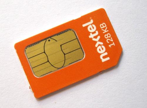 chip prepago nextel activo con numero de linea y radio y sms