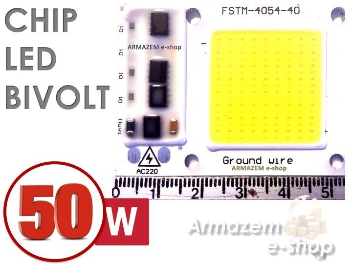 Chip Super Led 50w 110 Volts Branco Frio (reator Embutido) - R  29 ... 9e4be4392a2fc