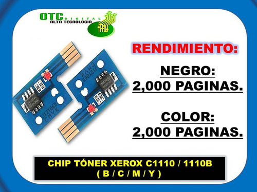 chip toner xerox c1110 1110b