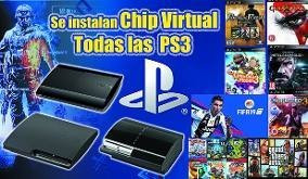 chip virtual ps3 juegos play station 3 cualquier modelo
