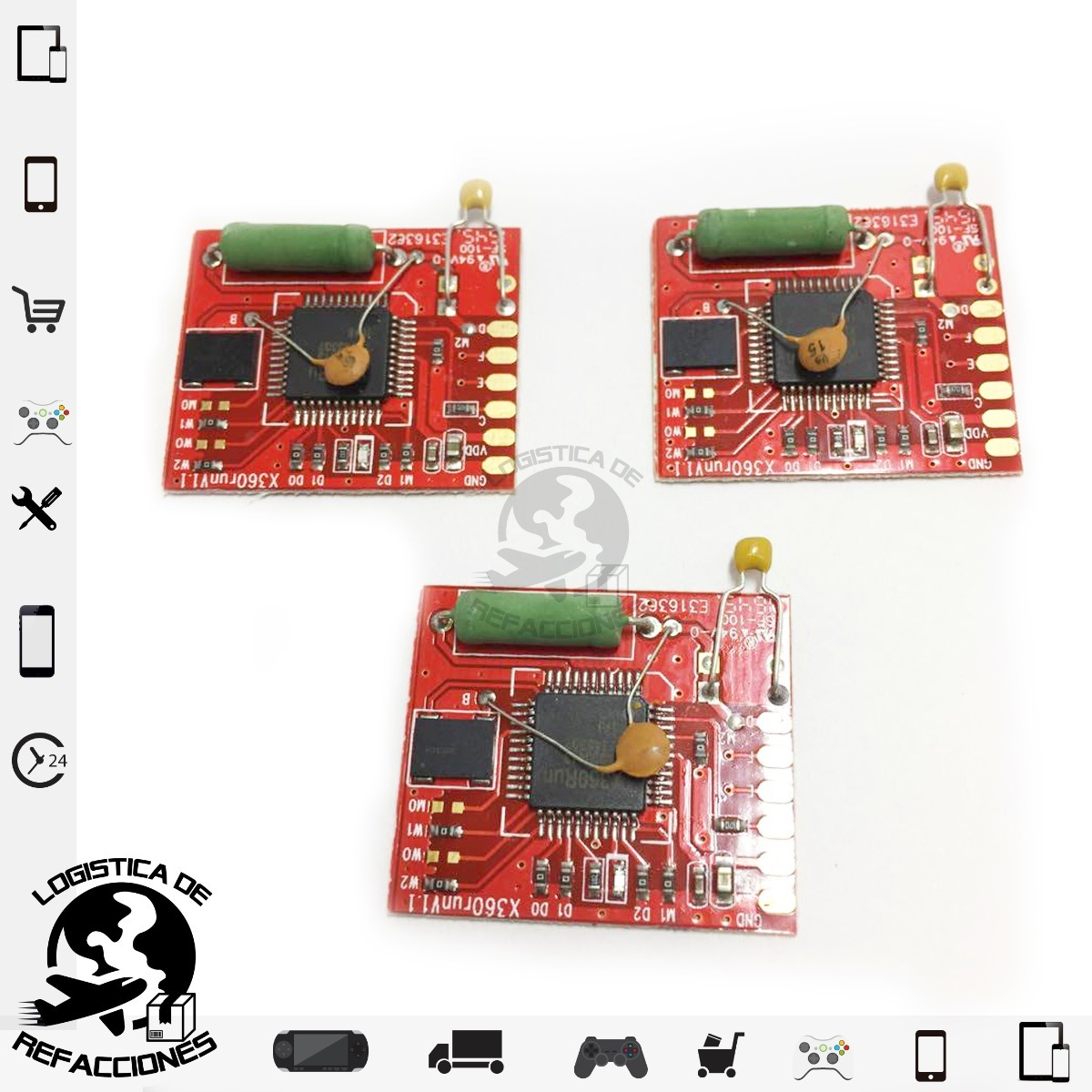 Chip X360 Run Red (rojo) Xbox 360 Trinity, Corona Rgh 3pza