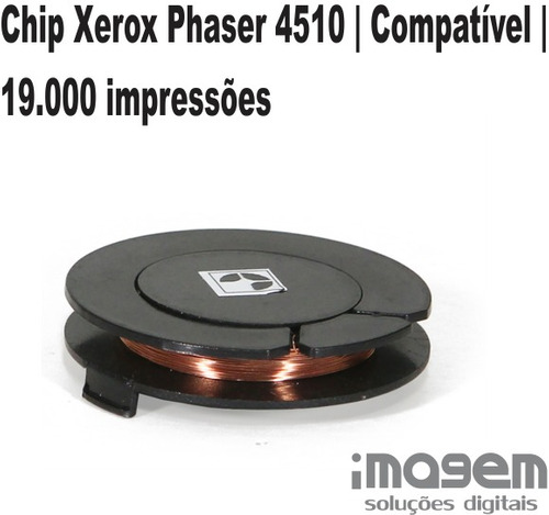 chip xerox phaser 4510   compatível   19.000 impressões