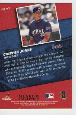 chipper jones pinnacle museum collection 1998