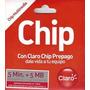Chip Claro 5 Minutos + 5 Mb Al Por Mayor