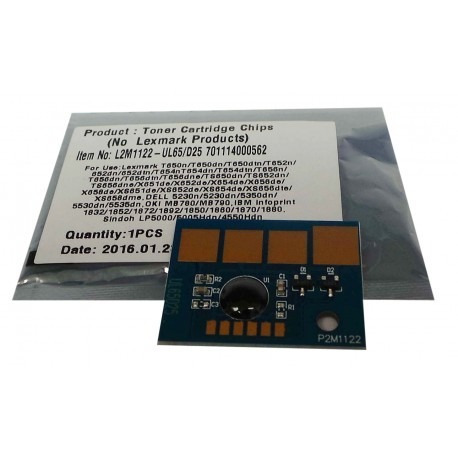 chips lexmark t650 / 652 / 654 / 656