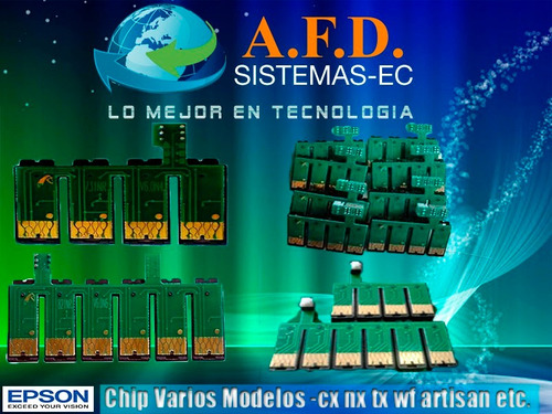 chips para sistemas epson tx130/430/730nx workforce xp y mas