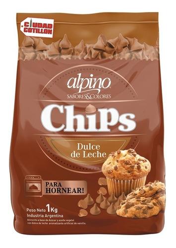 chips sabor dulce de leche alpino 1 kg ciudad cotillón