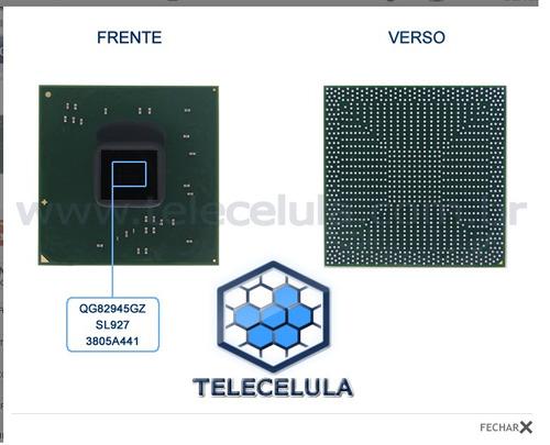 chipset bga intel modelo vga qg82945gz - sl927 original novo
