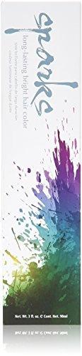 chispas y dura más tiempo brillante color de pelo, púrpura