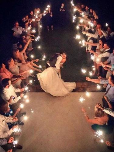 chispeadores gigantes para bodas o eventos especiales
