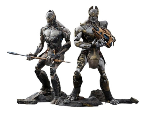 chitauri footsoldier & commander set - hot toys