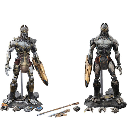 chitauri footsoldier & commander set - hot toys(mms228) 1:6