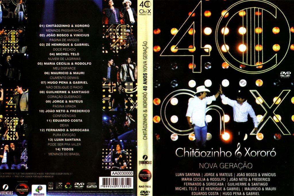 novo dvd chitaozinho e xororo 40 anos