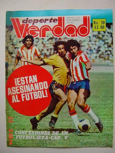 chivas de guadalajara revista de futbol soccer de 1974 rara!