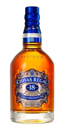 chivas regal 18 años whisky escocés botella 750 ml + estuche
