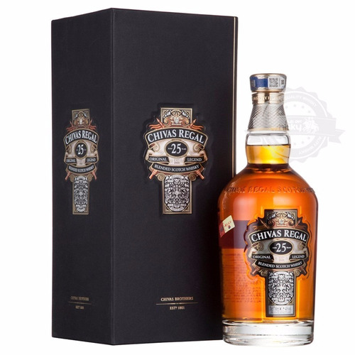 chivas regal 25 años  700ml 100% original
