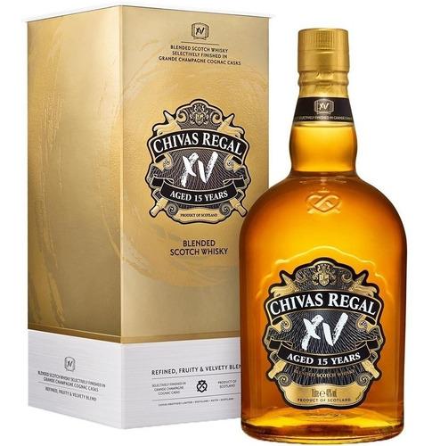 chivas regal xv whisky escoces 15 años con estuche
