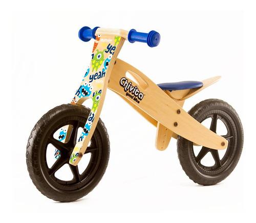 chivita bici de madera azul - mosca