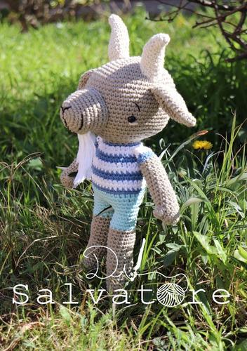 chivito muñeco tejido al crochet- amigurumi