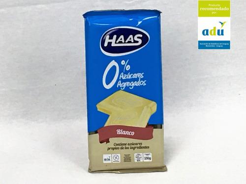 choc. haas blanco 0%* 150grs - sello adu - diabetes