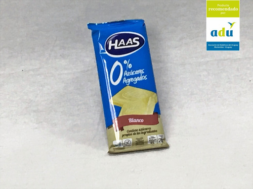 choc. haas blanco 0%* 70grs - sello adu - diabetes