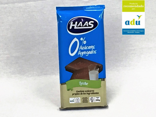 choc. haas leche 0%* 150grs - sello adu - diabetes