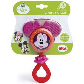 Chocalho E Mordedor Mickey E Minnie Disney Baby Elka
