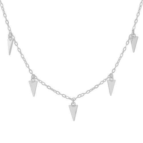 chocker de prata triângulo