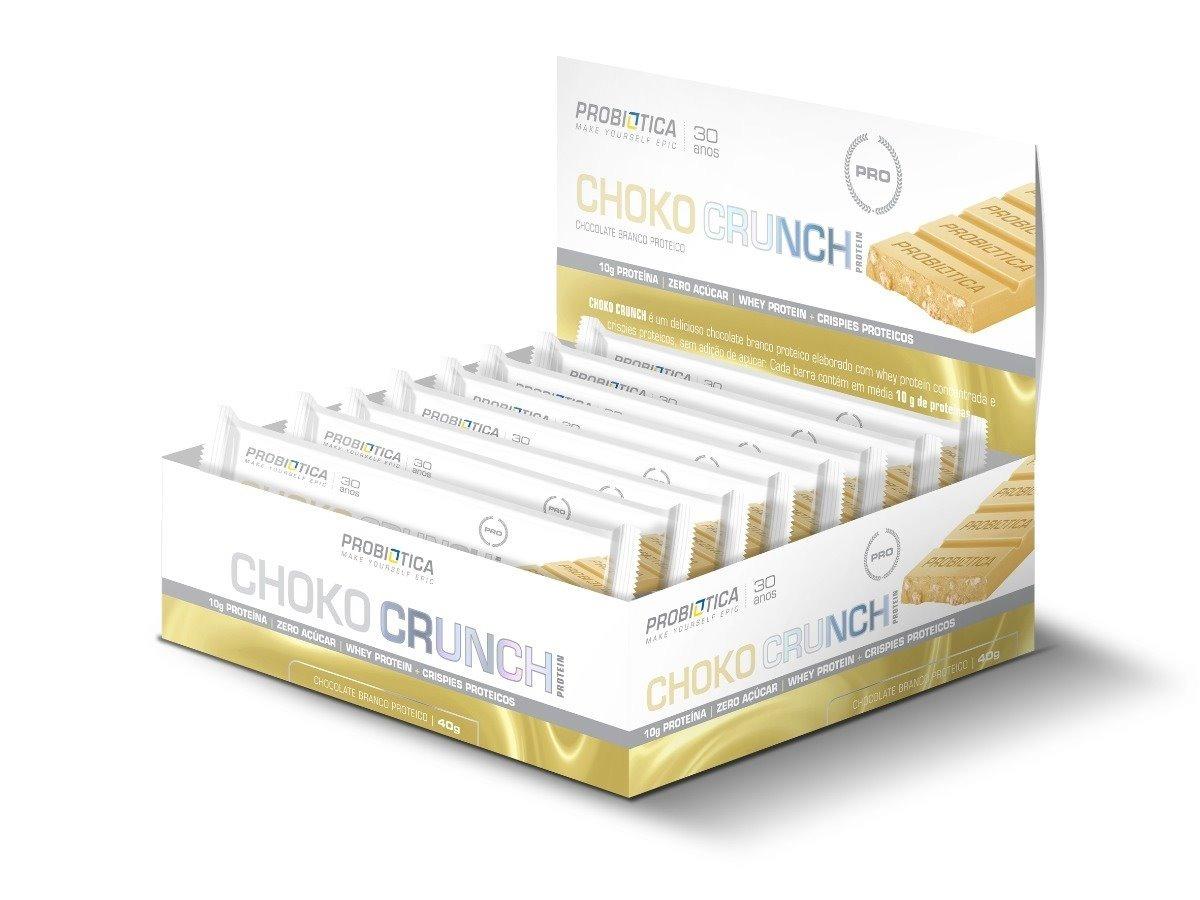 7691c05dd choco crunch protein 40g 12un chocolate branco probiótica. Carregando zoom.