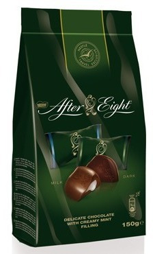 chocolate after eight de leite com recheio de menta 150 g
