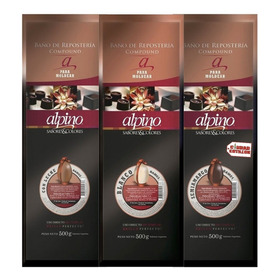 Chocolate Alpino Lodiser Tableta X 500grs - Ciudad Cotillón