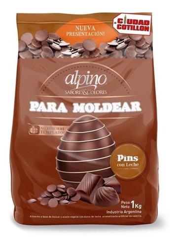 chocolate alpino modelar pins x 1 kg - ciudad cotillón z