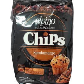 Chocolate Alpino Semiamargo En Chips Por 1 Kilo