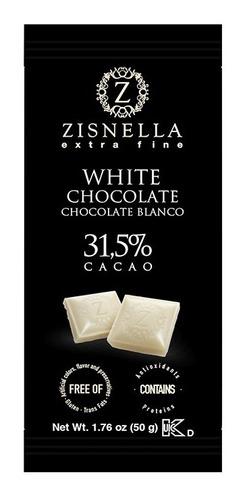 chocolate blanco 50g 31,5% cacao (12 unid)