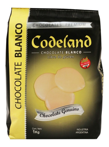 chocolate blanco codeland x 1 kg