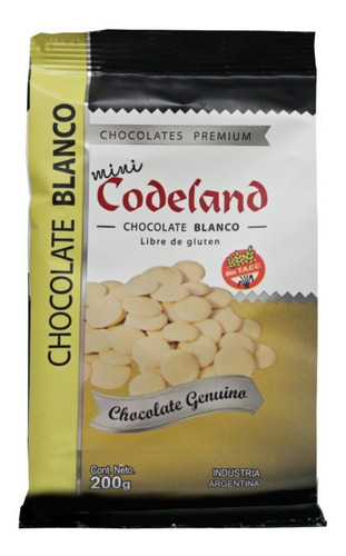 chocolate blanco mini codeland x 200 grs