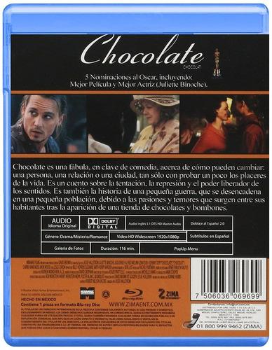 chocolate chocolat jhonny deep pelicula blu-ray