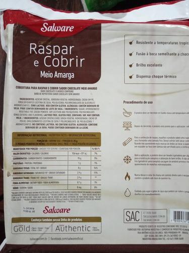 chocolate cobertura medio amargo 5 kg.